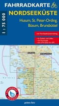 Fahrradkarte Nordseeküste - Husum, St. Peter-Ording, Büsum, Brunsbüttel