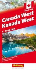 Kanada / Canada Strassenkarte West 1:2.5 Mio