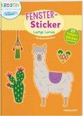 Fenster-Sticker Lustige Lamas