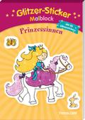 Glitzer-Sticker Malblock. Prinzessinnen
