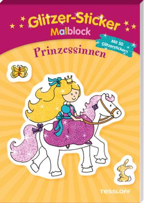 Glitzer-Sticker Malblock Prinzessinnen