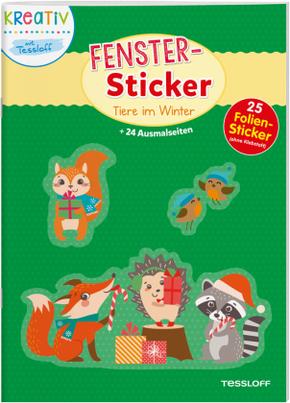 Fenster-Sticker Tiere im Winter
