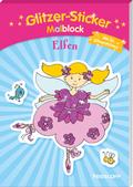 Glitzer-Sticker Malblock. Elfen