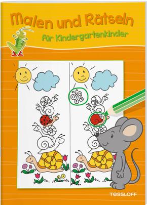 Malen und Rätseln für Kindergartenkinder (Orange)
