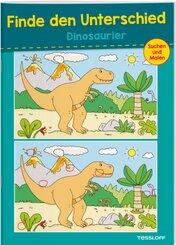 Finde den Unterschied. Dinosaurier