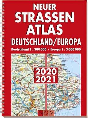 Neuer Straßenatlas Deutschland/Europa 2020/2021