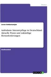 Ambulante Intensivpflege in Deutschland. Aktuelle Praxis und zukünftige Herausforderungen
