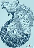 Maritimes Notizbuch - Illustration: Meerjungfrau, 2er-Set