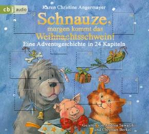 Schnauze, morgen kommt das Weihnachtsschwein!, 1 Audio-CD