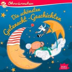 Ohrwürmchen. Die schönsten Gutenacht-Geschichten, 1 Audio-CD