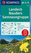 KOMPASS Wanderkarte Landeck, Nauders, Samnaungruppe