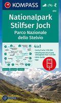KOMPASS Wanderkarte Nationalpark Stilfserjoch, Parco Nazionale dello Stelvio