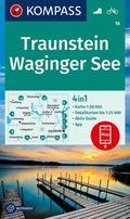 KOMPASS Wanderkarte Traunstein, Waginger See