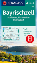 KOMPASS Wanderkarte Bayrischzell, Schliersee, Fischbachau, Oberaudorf