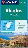 KOMPASS Wanderkarte Rhodos
