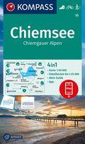 KOMPASS Wanderkarte Chiemsee, Chiemgauer Alpen