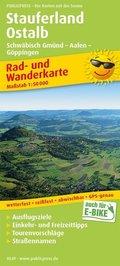 PublicPress Rad- und Wanderkarte Stauferland, Ostalb, Schwäbisch Gmünd - Aalen - Göppingen