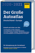 Großer ADAC Autoatlas 2020/2021, Deutschland 1:300 000, Europa 1:750 000