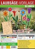 Laubsäge-Vorlage Blumen