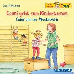 Conni geht zum Kinderturnen / Conni und der Wackelzahn, 1 Audio-CD