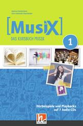 Musix - Das Kursbuch Musik, Neuausgabe 2019: 5./6. Schuljahr, Hörbeispiele und Playbacks, 7 Audio-CDs; 1
