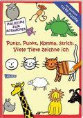 Punkt, Punkt, Komma Strich: Viele Tiere zeichne ich, mit großem Tiere-Poster