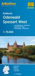 Bikeline Radkarte Odenwald, Spessart West