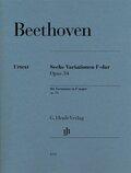 Sechs Variationen F-dur op. 34, Klavier