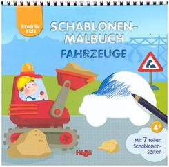 Kreativ Kids Schablonen-Malbuch Fahrzeuge