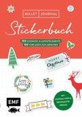 Bullet Journal - Stickerbuch Merry Christmas: 900 weihnachtliche Schmuckelemente