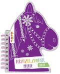Kratzelzauber Color Pferde (Kratzelbuch in Pferdekopfform)