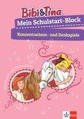 Bibi & Tina - Mein Schulstart-Block - Konzentrations- und Denkspiele