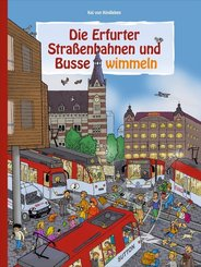 Die Erfurter Straßenbahnen und Busse wimmeln