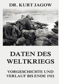 Daten des Weltkriegs - Vorgeschichte und Verlauf bis Ende 1921