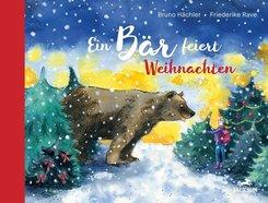 Ein Bär feiert Weihnachten
