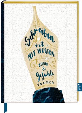 Notizbuch mit glitzerndem Stoffeinband - BücherLiebe