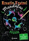 Kreativ-Kratzel Mandalas - Pferde