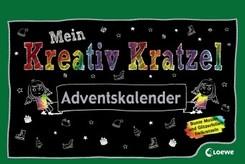 Mein Kreativ-Kratzel Adventskalender, m. Holzstift