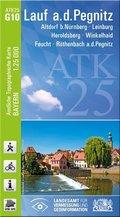 Amtliche Topographische Karte Bayern Lauf a.d.Pegnitz