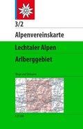 Alpenvereinskarte Lechtaler Alpen, Arlberggebiet