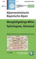 Alpenvereinskarte Bayrische Alpen Mangfallgebirge Mitte, Spitzingsee, Rotwand