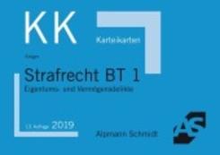 Alpmann-Cards, Karteikarten (KK): Strafrecht BT 1, Karteikarten