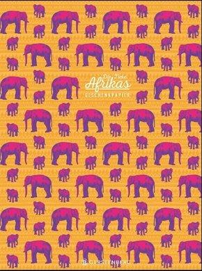 Die Tiere Afrikas Geschenkpapier-Heft Motiv Elefant