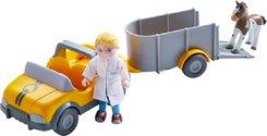 HABA Little Friends - Tierarzt-Auto mit Anhänger