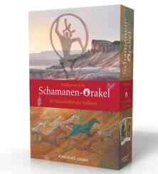 Schamanen-Orakel. 40 Seelenbilder der Indianer, m. 40 Orakelkarten