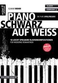 Piano schwarz auf weiß