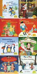 Pixi Bücher: ABC, Pixi lief im Schnee (8x1 Exemplar), 8 Teile.