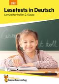 Lesetests in Deutsch - Lernzielkontrollen 2. Klasse