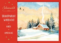"""Transparent-Windlicht """"Schneewald"""""""