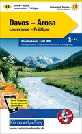 Kümmerly+Frey Karte Davos - Arosa, Lenzerheide-Prättigau Wanderkarte